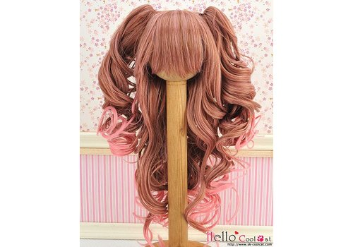 Coolcat Wig Wavy Brown/Deep Pink