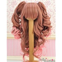 Wig Wavy Brown/Deep Pink