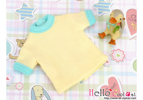 Coolcat Short Sleeve Tee Yellow & Cyan