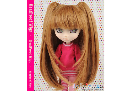 Coolcat Wig Milk Tea with hair pin 2pcs