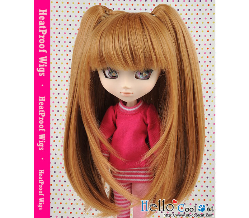 Wig Milk Tea with hair pin 2pcs