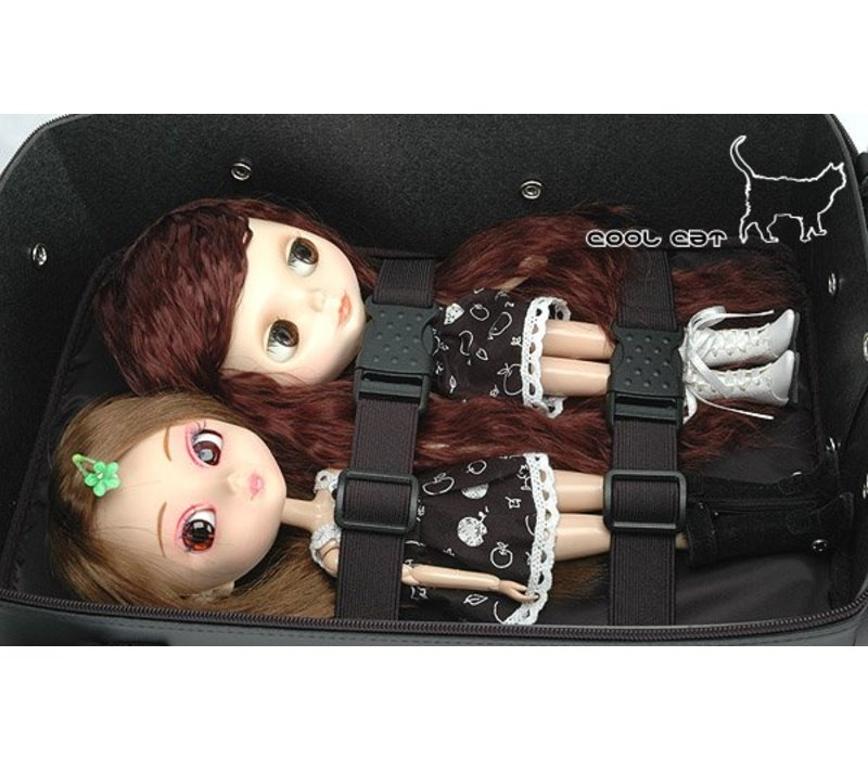 Carrier Bag 2 dolls Cats BLACK