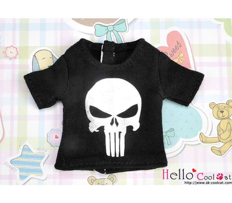 Short Sleeve T-shirt Silver Skull