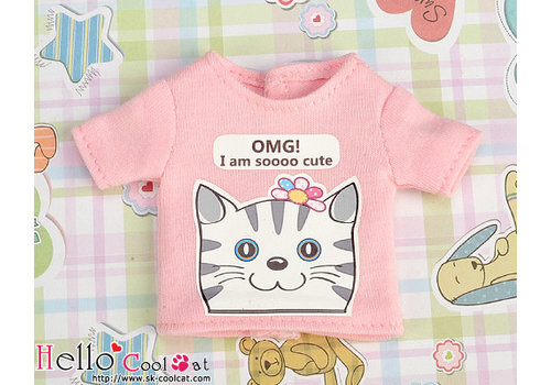 Coolcat Printing  T-shirt Pink