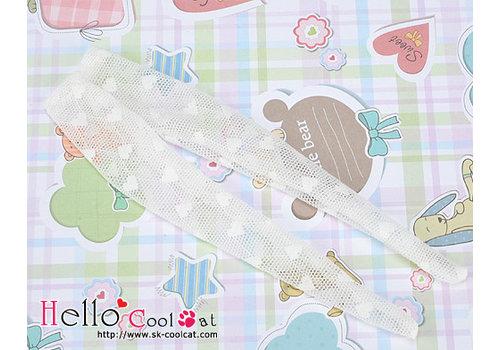 Coolcat Pantyhose Socks Net White Mini Heart