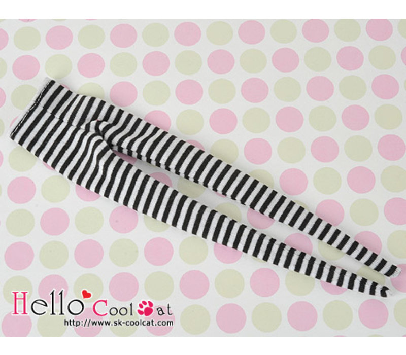 Pantyhose Socks Stripe Black + White
