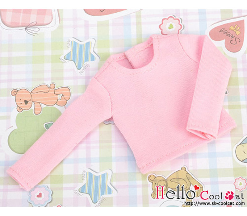 Extra Long Sleeve T-shirt Pink