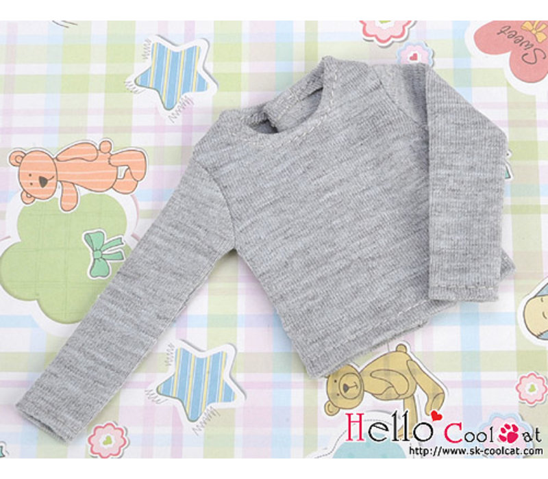Extra Long Sleeve T-shirt Grey