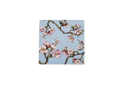 Cedon Cedon Servetten cherry blossom lichtblauw