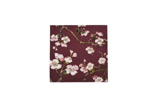 Cedon Cedon Servetten cherry blossom bordeaux