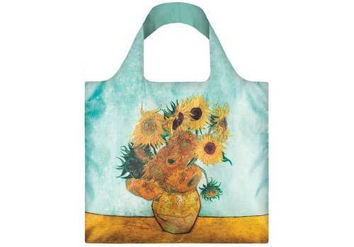 Loqi Loqi Opvouwbare draagtas museum collection - Vaas met zonnebloemen