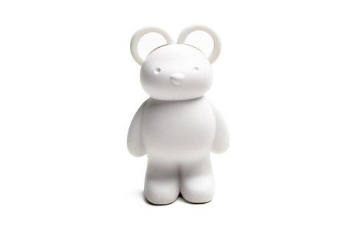 Qualy Qualy Teddybeer schaar- en paperclip houder wit