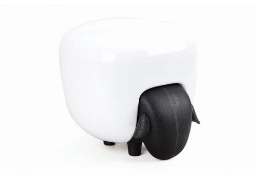Qualy Qualy Sheep Cotton Box - black/white