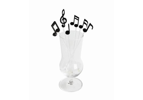 Qualy Qualy Melodrinks Stirrers Black 6 st