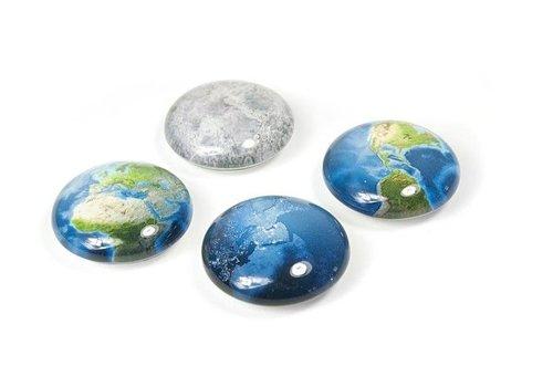 Trendform Trendform set van 4 Magneten Planeet Aarde