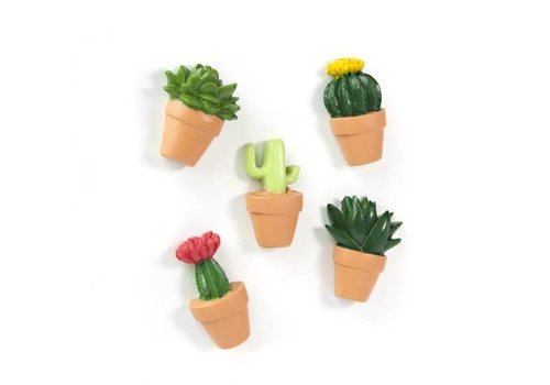 Trendform Trendform Set van 5 Cactus Magneten
