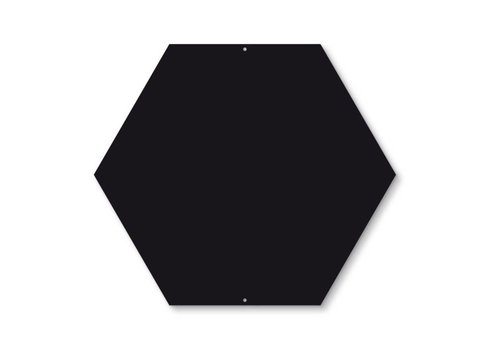 Trendform Trendform Zeshoekig Magneetbord Zwart
