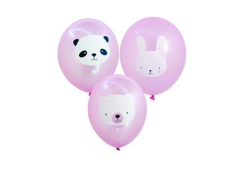 A Little Lovely Company Ballonen roze 6 stuks