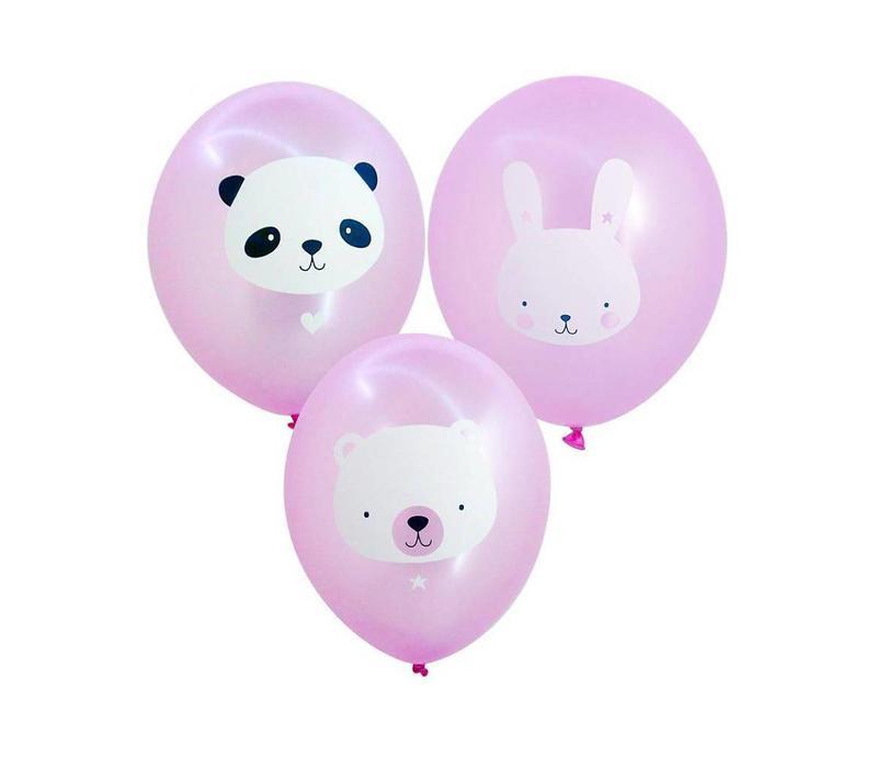 Ballonen roze 6 stuks