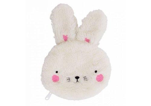 A Little Lovely Company A Little Lovely Company Portemonnee Fluffy Rabbit