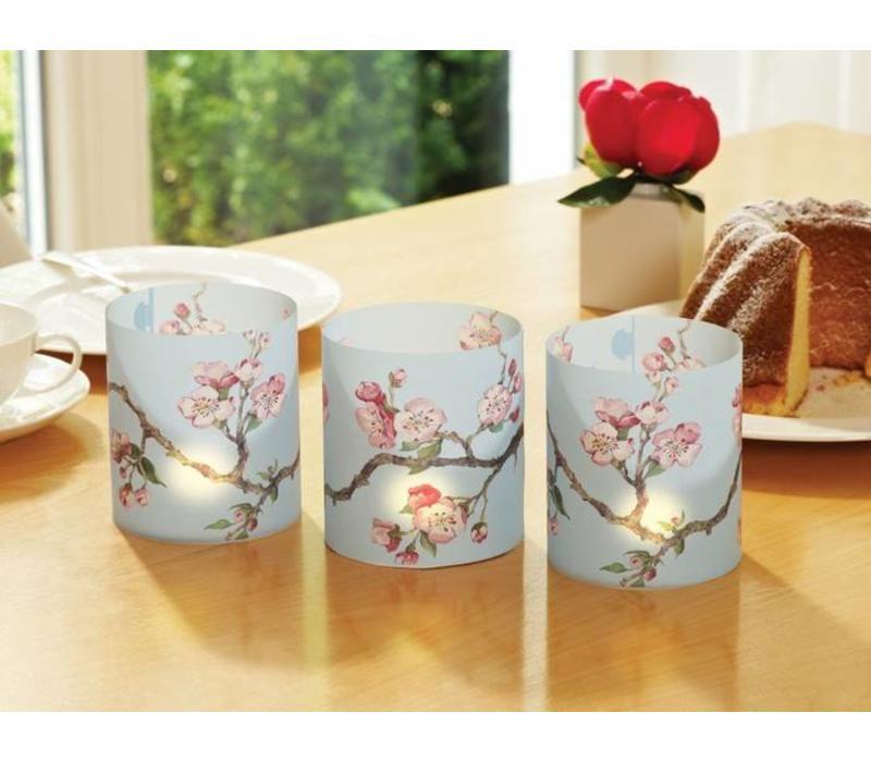 Cedon Papieren lantaarn cherry blossom lichtblauw