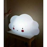 A Little Lovely Company Mini wolklamp wit