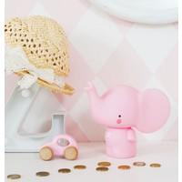 A Little Lovely Company Money Box Roze Olifant