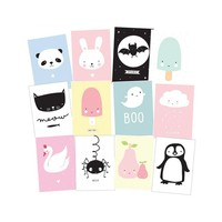 A Little Lovely Company Postcard set cute kids 12 stuks