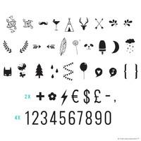 A Little lovely Company Lightbox symbol set Numbers & Symbols
