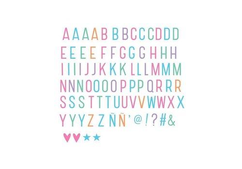 A Little Lovely Company A little Lovely Company Lightbox Letter set pastel