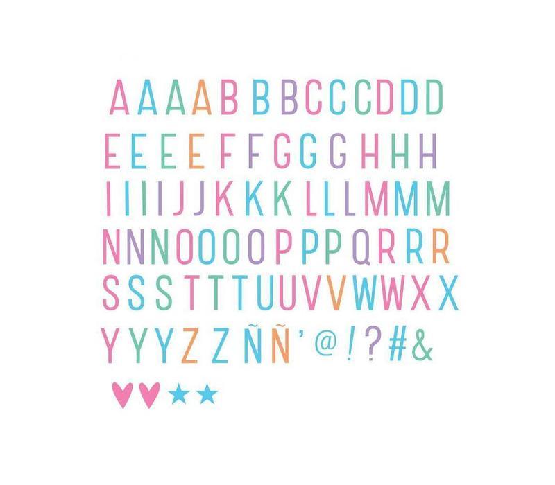 A little Lovely Company Lightbox Letter set pastel