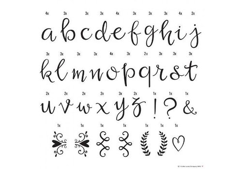 A Little Lovely Company Lightbox letter set script