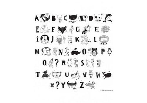 A Little Lovely Company Lightbox letter set ABC black