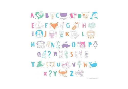 A Little Lovely Company Lightbox letter set ABC pastel