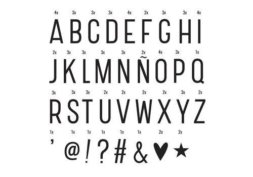 A Little Lovely Company Lightbox letter set basic