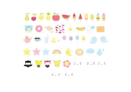 A Little Lovely Company Lightbox letter set : Kawaii