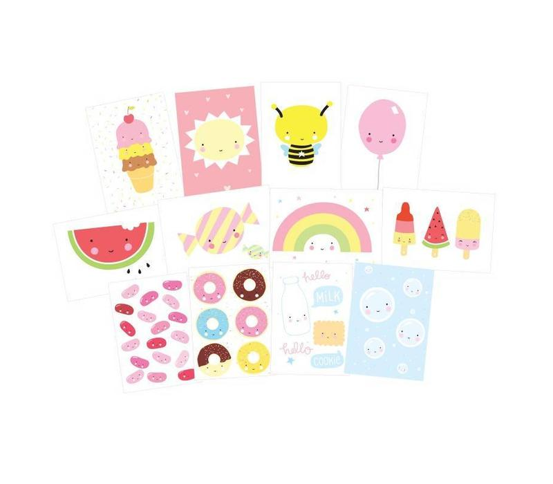 A little lovely company postkaarten set Cute kawaii