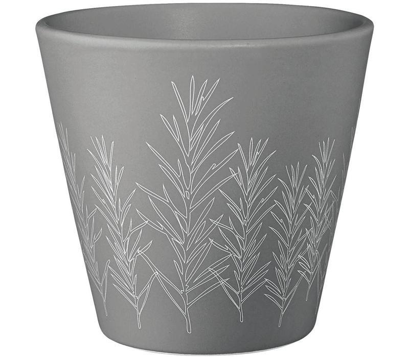 ASA Kruiden cache pot rozemarijn grijs