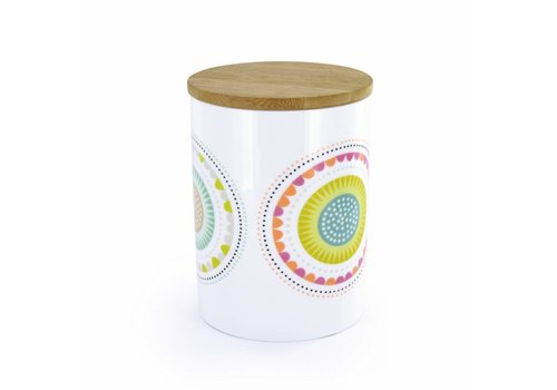 Atomic Soda Atomic Soda Porseleinen pot met houten deksel