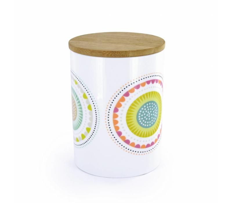 Atomic Soda Porseleinen pot met houten deksel