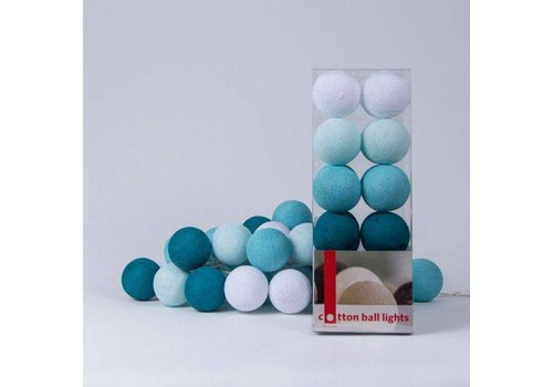 Cotton Ball Lights Cotton Ball LIghts Box Aqua 20 L