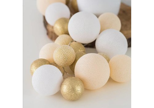 Cotton Ball Lights Cotton Ball Lights Premium Touch Of Gold 20 L