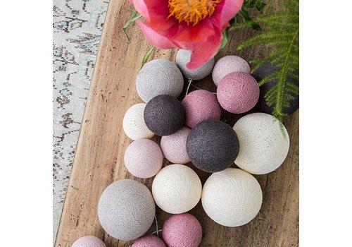 Cotton Ball Lights Cotton Ball Lights Premium Velvet Pinks 20 L