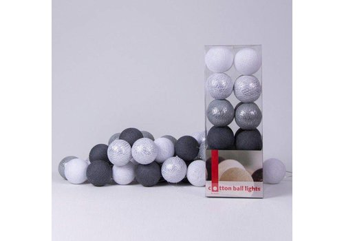 Cotton Ball Lights Cotton Ball Lights Box Sparkling Silver Mix 20 L
