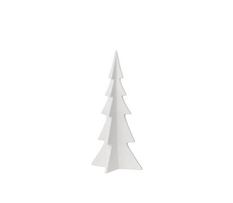 Bloomingville Christmas Tree white matte porcelain