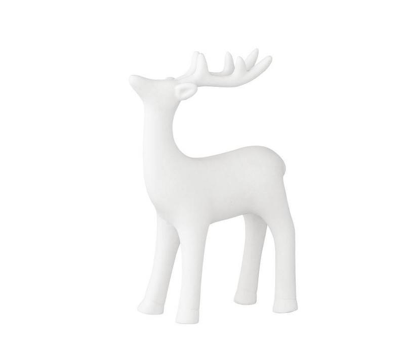 Bloomingville posing reindeer white porcelain