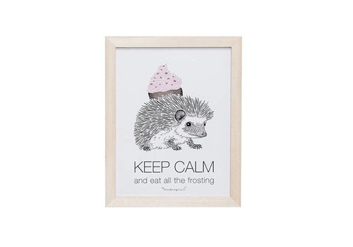 Bloomingville Bloomingville kadertje 'Keep calm and eat all the frosting'