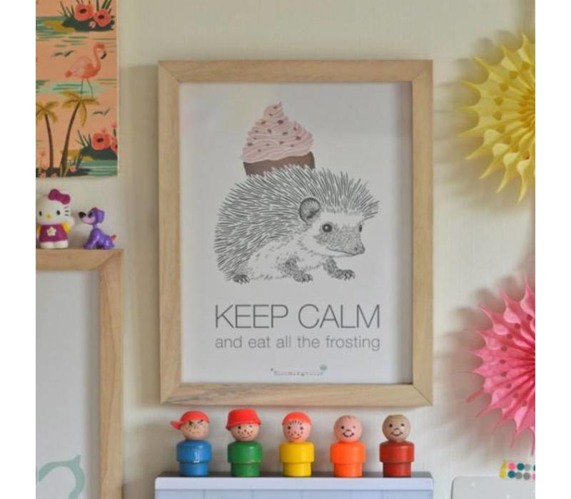 Bloomingville kadertje 'Keep calm and eat all the frosting'