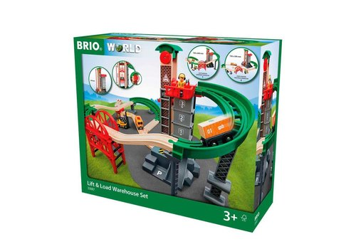 Brio Brio Treinset Lift & Load Warehouse Set