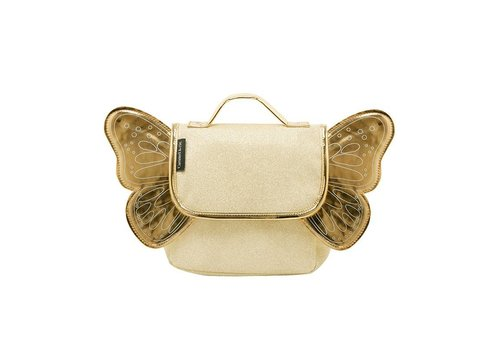 Caramel & Cie Caramel & Cie Mini School Bag Golden Butterfly